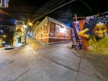 Varlaraiso nachts Lizenzfreies Stockfoto
