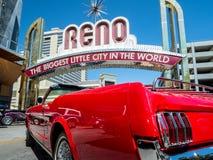Varm August Nights händelse, i stadens centrum Reno, Nevada Arkivfoto