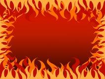 Varm bakgrund för brand i borad Arkivbild