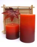 varm candelsfallbrunnsort Royaltyfria Bilder