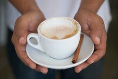 varm cappuccino Royaltyfri Foto