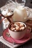 Varm choklad. Arkivbild