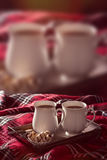 Varm choklad dricker annonsen Royaltyfri Bild