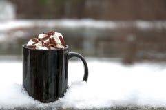Varm choklad eller kaffe Arkivfoton