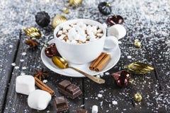 varm chokladkopp Arkivbilder