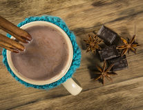 varm chokladkopp arkivfoton