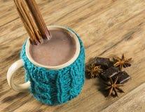 varm chokladkopp fotografering för bildbyråer