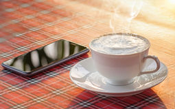 varm coffe Arkivfoton