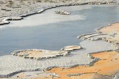 varm fjäder yellowstone arkivfoton