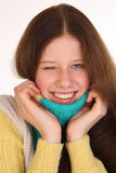Varm flicka, goda och gyckel Fotografering för Bildbyråer