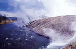 varm flod Arkivbild