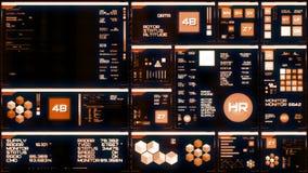 Varm futuristisk manöverenhet/Digital screen/HUD