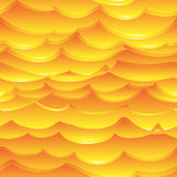 Varm guling- och apelsinhavvåg vektor illustrationer