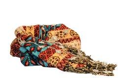 Varm halsduk med prydnaden Arkivfoto