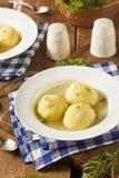 Varm hemlagad soppa för Matzoboll royaltyfri foto