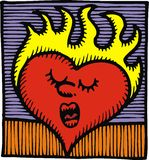 Varm hjärta stock illustrationer