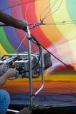 varm inflation för luftballong Royaltyfria Bilder