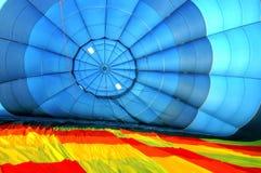 varm inre sikt för luftballong Arkivfoto