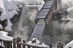 varm japan kusatsufjäder Arkivbilder