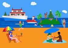 Varm jul: fira jul i ett annat sätt royaltyfri illustrationer