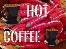 Varm kaffebakgrund Arkivbild