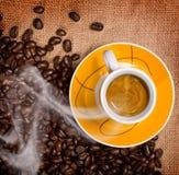 varm kaffekopp Royaltyfri Foto