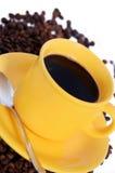 varm kaffekopp Fotografering för Bildbyråer