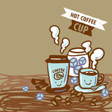 varm kaffekopp Vektor Illustrationer