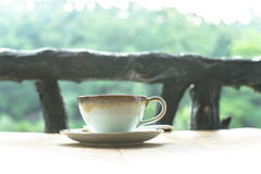 varm kaffekopp Arkivfoto