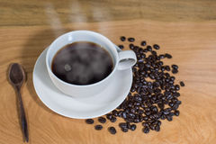 varm kaffekopp Arkivbilder