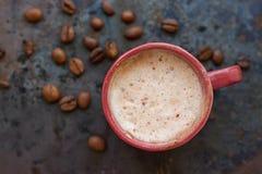 Varm kaffelattecappuccino Arkivfoton