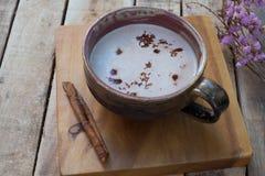 varm kakao Arkivfoton