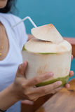 Varm kall drink för dricksvatten Royaltyfria Bilder