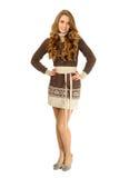 varm klänningflicka Royaltyfria Bilder