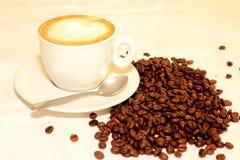 Varm koffein för arom för espressooen för kaffedrinkkoppen, det för kaffenollan för ` s klockan för `, älskar jag Coffe, den bra  arkivbild