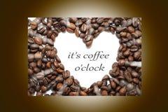 Varm koffein för arom för espressooen för kaffedrinkkoppen, det för kaffenollan för ` s klockan för `, älskar jag Coffe, den bra  vektor illustrationer