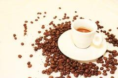Varm koffein för arom för espressooen för kaffedrinkkoppen, det för kaffenollan för ` s klockan för `, älskar jag Coffe, den bra  royaltyfri fotografi