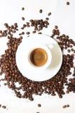 Varm koffein för arom för espressooen för kaffedrinkkoppen, det för kaffenollan för ` s klockan för `, älskar jag Coffe, den bra  royaltyfri bild
