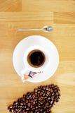 Varm koffein för arom för espressooen för kaffedrinkkoppen, det för kaffenollan för ` s klockan för `, älskar jag Coffe, den bra  royaltyfri foto