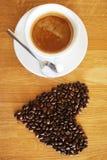 Varm koffein för arom för espressooen för kaffedrinkkoppen, det för kaffenollan för ` s klockan för `, älskar jag Coffe, den bra  fotografering för bildbyråer