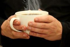 Varm kopp av kaffe arkivbild