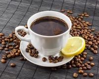 Varm kopp av kaffe Arkivfoto