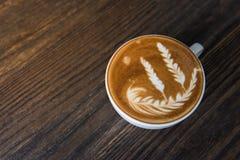 Varm kopp för kaffelattekonst Arkivfoto