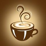 Varm kopp kaffe med ånga Arkivbild