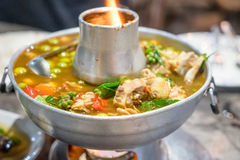 Varm kruka för soppa Fotografering för Bildbyråer