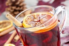 varm kryddad wine för grog Arkivbild