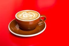 varm latte Arkivbilder