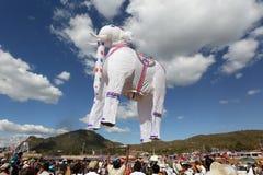 Varm-luft ballonfestival i Taunggyi, Myanmar ( Burma) Royaltyfri Fotografi