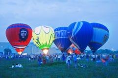varm luftballongfestival Fotografering för Bildbyråer