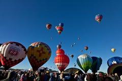varm luftballongfestival Arkivfoto